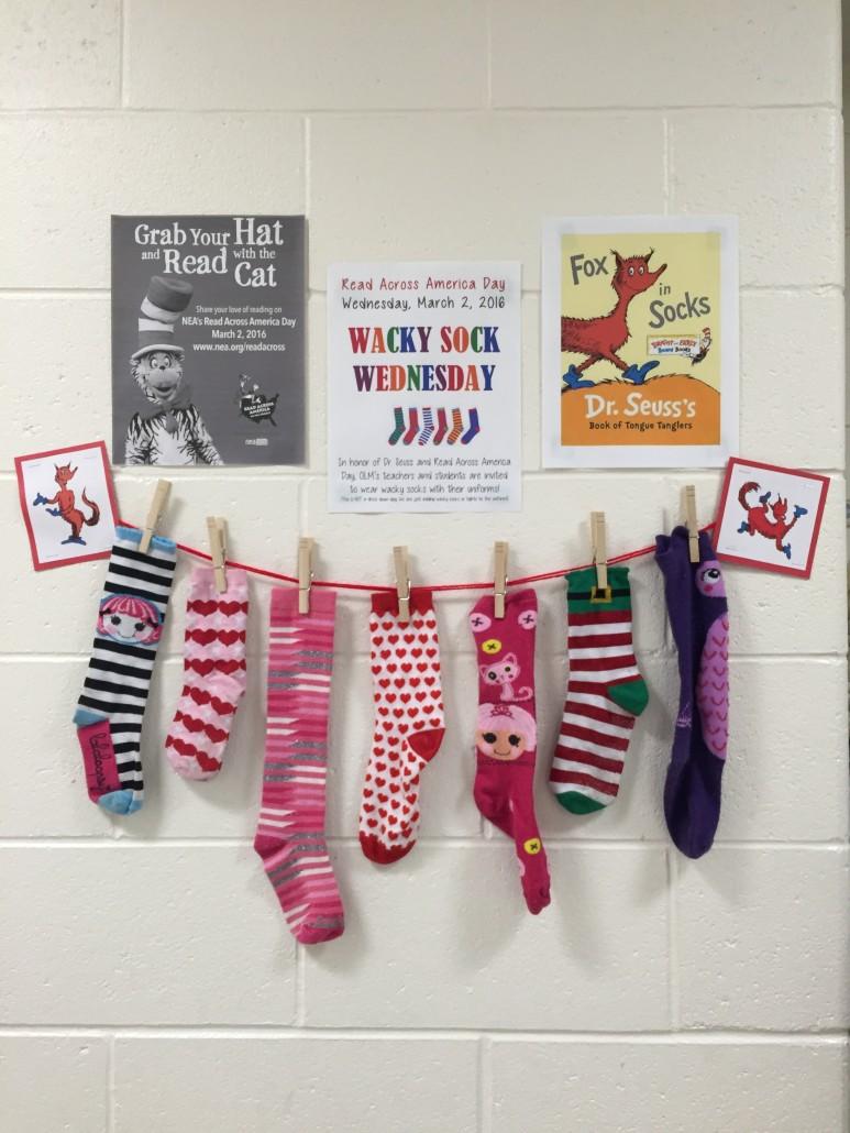 0dde411a OLM Celebrates Read Across America Day with Wacky Socks Wednesday ...